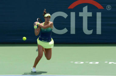Louisa Chirico advances to her first career WTA quarter final (pic courtesy of WTA twitter)