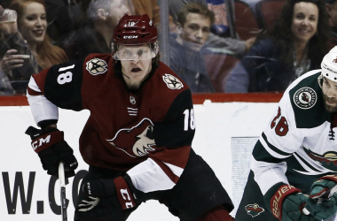 The Arizona Coyotes may be forced to be without center Christian Dvorak due to a injury. | Ross D. Franklin/Associated Press