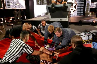 Ciampa surveys the damage he has done (photo:WWE.com)