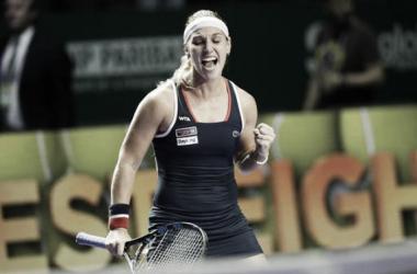 Cibulkova vence Kuznetsova de virada e está pela primeira vez na final do Masters da WTA/ Foto: AP