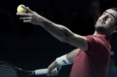 Marin Cilic serves in Basel. Photo: ATP World Tour