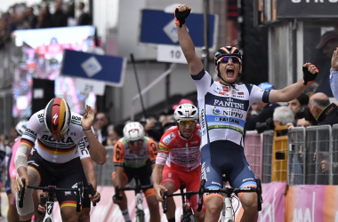 Cima resiste al ritorno di Ackermann e vince a Santa Maria di Sala    Fonte foto: Profilo Twitter Giro d'Italia