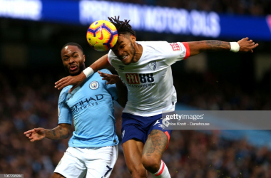 Raheem Sterling and Tyrone Mings go head-to-head in the teams' last meeting. (Photo: Getty Images/Chloe Knott)