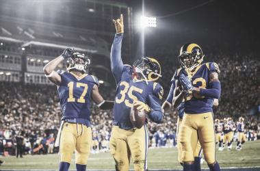 C.J. Anderson celebrando un touchdown (foto: www.therams.com)
