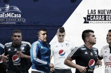Millonarios anunció sus seis novedades para la Liga Águila 2015-II. Foto: Millonarios.