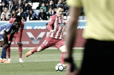Gameiro marcó el gol de la victoria ante el Alavés || FOTO: Club Atlético de Madrid.