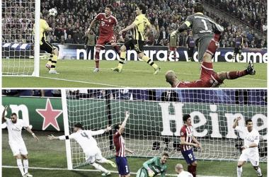 Bayern Munich-Borussia y Real-Atlético, recientes finales de Champions (Fotomontaje).