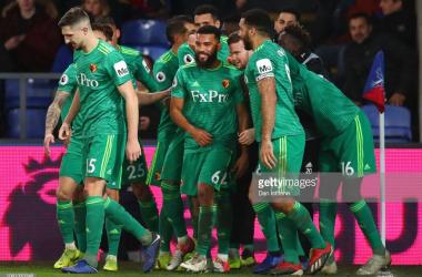 Watford celebrate their winner via Getty Images