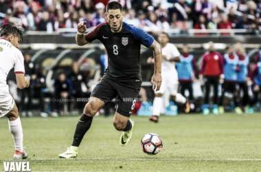 Clint Dempsey stepped up for the U.S. against Costa Rica, scoring one and assisting two goals. (Photo credit: Gary Duncan/VAVEL USA)