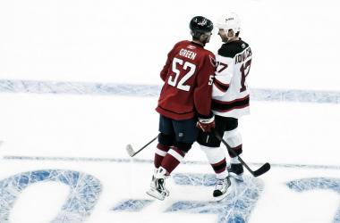 Mike Green e Ilya Kovlachuk en un antiguo enfrentamiento entre sus dos franquicias | Foto: clydeorama
