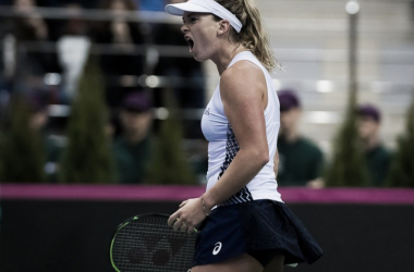 Coco Vandeweghe was all fired up today | Photo: Jimmie48 Tennis Photography