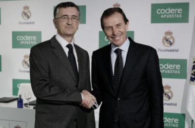 El Real Madrid renueva con Codere. Fuente: GrupoCodere