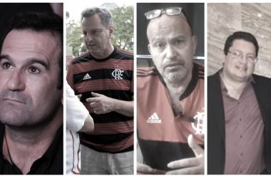 (Fotos: Gilvan de Souza/ Flamengo / Divulgação / / Reprodução/ Facebook)