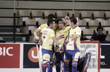 """Daniel Hoyos, capitán de Colombia en hockey sobre patines: """"Fue un partido muy intenso y muy parejo ante Chile"""""""