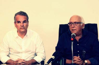 Carlos Frederico (VP) e Milton Bivar (presidente), encontraram o clube em situação muito delicada. Divulgação de foto: Sport Club do Recife