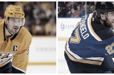 Roman Josi y Alex Pietrangelo, dos defensas cruciales para sus equipos   Foto: NHL.com