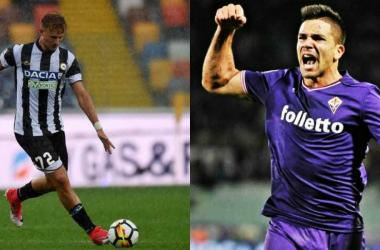 Nell'Udinese rientra Barak (23), per la Fiorentina si è sbloccato Simeone (22)