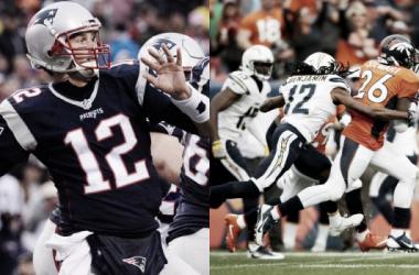 Tom Brady y la defensa de Denver, valores seguros (fotos: NFL)