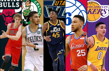 Members of the NBA All-Rookie First Team