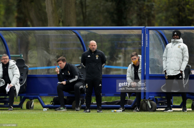 James Collins watching on.(Photo by Jack Thomas - WWFC/Wolves via Getty Images)