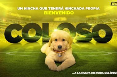 'Coloso', la mascota OFICIAL del club 'canario'. Foto: Barcelona S.C.