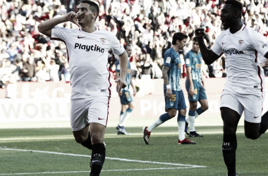 Ben Yedder celebrando el 1-0 | Foto: Sevilla FC