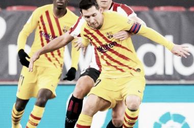 Vesga y Messi durante el encuentro   FUENTE: INSTAGRAM: @athleticclub