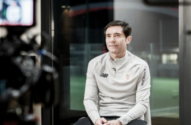 Marcelino en una  entrevista para el canal de YouTube del Athletic   FUENTE: INSTAGRAM: @athleticclub
