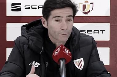 Marcelino en la rueda de prensa ante el Ibiza FUENTE: INSTAGRAM: @athleticclub