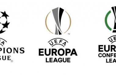 Imagen de las tres competiciones europeas a nivel de clubes / Fuente: UEFA