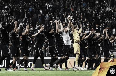 El conjunto alemán sumó los tres puntos. | Foto: @Eintracht