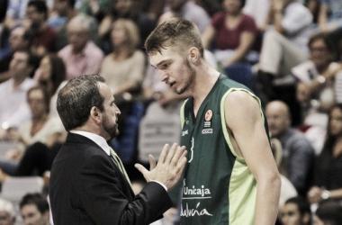 Domantas Sabonis en su debut con el Unicaja en la ACB