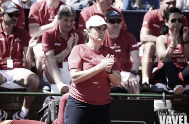 Conchita Martínez durante una eliminatoria de Fed Cup   Foto: Jordi Echevarria - VAVEL