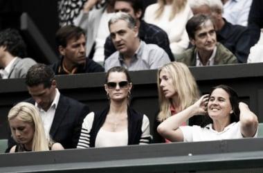 Conchita Martínez en el palco de Wimbledon durante la pasada final femenina. Foto: zimbio.com