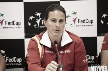 Conchita Martínez en rueda de prensa   Jordi Echevarría - VAVEL