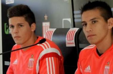 Carrillo y Auzqui, goleadores en una noche copera. Foto: edelpoficial.com.ar