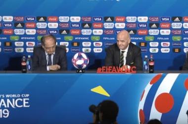 Conferencia de prensa en Lyon, Francia | Fuente: FIFA