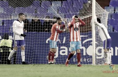 Vico y Romero se lamentan tras fallar una ocasión / Foto: LaLiga