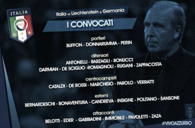 La lista de convocados con Italia