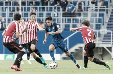 Imagen del encuentro de pretemporada entre el Hoffenheim y el Athletic Club | Fotografía: Athletic Club
