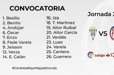 Los 18 convocados del Rayo Majadahonda. Fotografía: Rayo Majadahonda