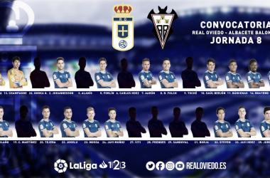Convocatoria Real Oviedo. Fuente: Real Oviedo