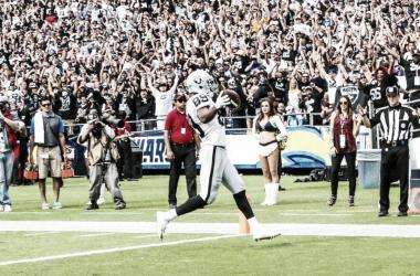 Celebración de touchdown de Cooper // Foto: Oakland Raiders