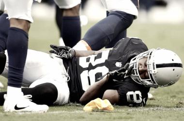 Cooper sufrió un duro golpe en el Colisseum | Foto: NFL