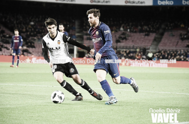 Messi en el último Barcelona - Valencia de Copa del Rey | Foto: Noelia Déniz (VAVEL)