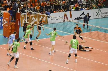 CAI Voleibol Teruel claro vencedor en la primera semifinal de la Copa del Rey