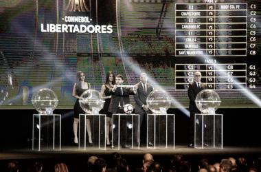 """""""Ya se sorteó los grupos de la Copa Libertadores"""" Fuente: Sitio Oficial Conmebol"""