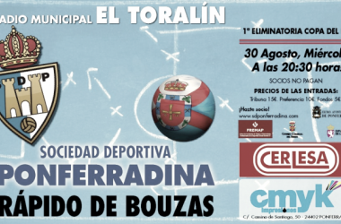 Previa SD Ponferradina - Rápido de Bouzas: la Copa vuelve a El Toralín