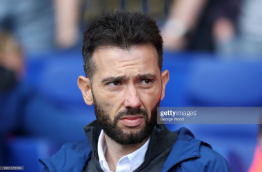 <div>Sheffield Wednesday v Huddersfield Town - Carabao Cup First Round</div><div>SHEFFIELD, ENGLAND - AUGUST 01: Carlos Corberan, Manager of Huddersfield Town looks on prior to the Carabao Cup First Round match between Sheffield Wednesday and Huddersfield Town at Hillsborough on August 01, 2021 in Sheffield, England. (Photo by George Wood/Getty Images)</div>