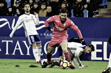 Imagen del partido de la temporada pasada entre el Real Zaragoza y el Córdoba CF / FOTO: cordobacf.com